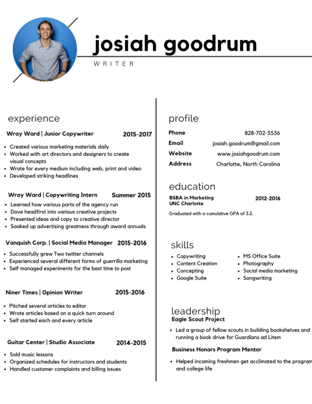 Copy of Josiah Goodrum _Resume 2017_writer